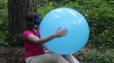Blowing-blue-24-balloon-from-Party-City-no-pop-500-subs-special