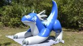 Aarons-Blue-Pouncing-Dragon-Pool-Toy-Deflation