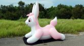 Puffy-Paws-Pink-Bunny-Pool-Toy-Inflation