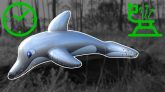 Inflatable-Silver-Dolphin-Deflation-in-Time-Lapse