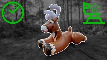 Huge-Reindeer-Pool-Toy-Deflation-in-Time-Lapse