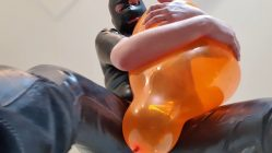Orange-Q16quot-tease-and-pop-in-full-rubber