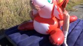 Riding-the-Red-Fox-Pool-Toy-from-Inflatable-World