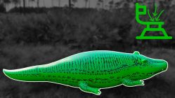 Huge-Life-Size-11-Foot-Alligator-Pool-Float-Inflation