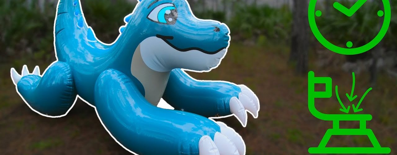 Skipper-Dino-Ride-On-Pool-Toy-Inflation-in-Time-Lapse